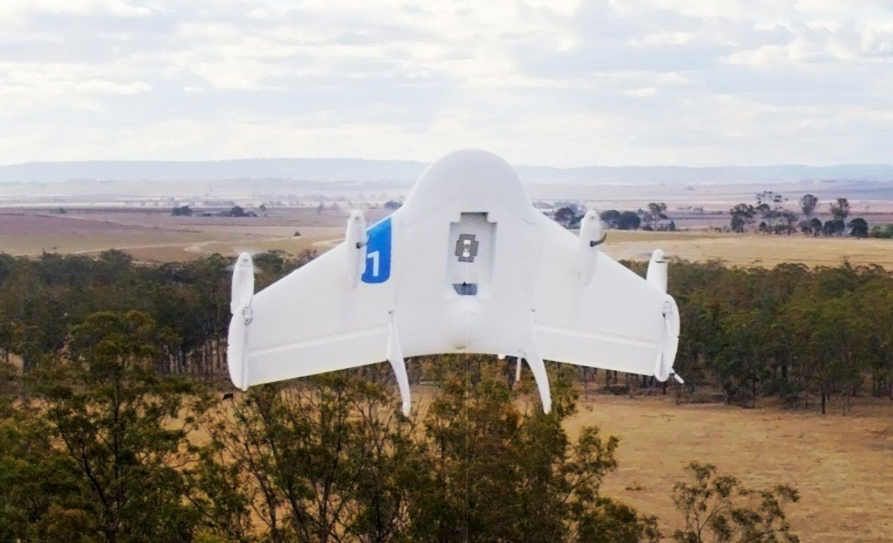 Eine Google-Drohne bei einem Testflug in Queensland. Jetzt sollen Drohnen in Virgina testweise