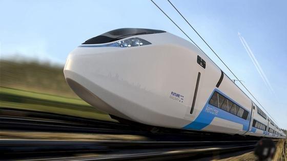 Doppelstöckiger Hochgeschwindigkeitszug AeroLiner3000: Ein neun Meter langes 1:1 Modell wird vom 20. bis 23. September auf der Messe InnoTrans zu sehen. Und man darf es auch begehen.