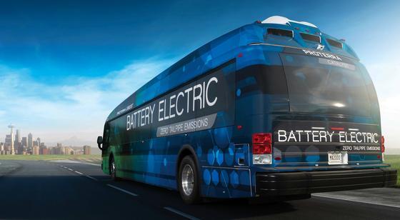 Der ElektrobusCatalyst soll in seiner stärksten Ausführung E2 fast 600 km mit einer Akkuladung fahren können. Nächstes Jahr kommt der Bus auf den Markt.