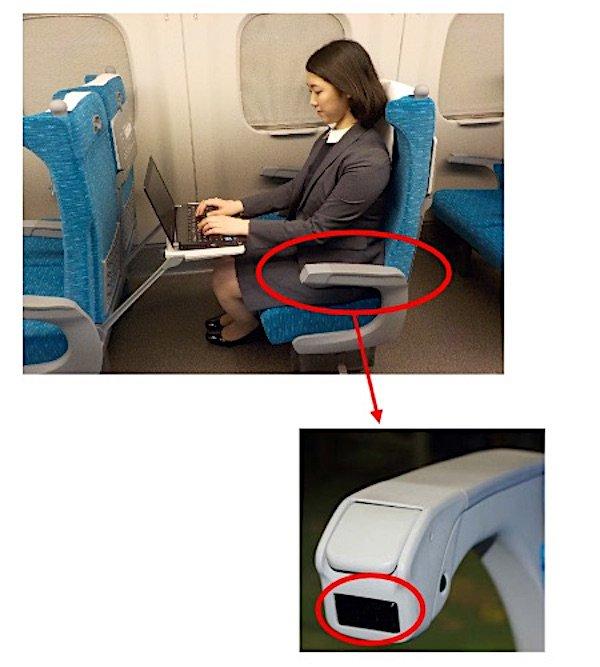 Im neuen Shinkansen sollen alle Sitze mit Steckdosen an den Armlehnen für mobile Geräte ausgestattet sein. Bislang gibt es sie nur an den Fensterplätzen.