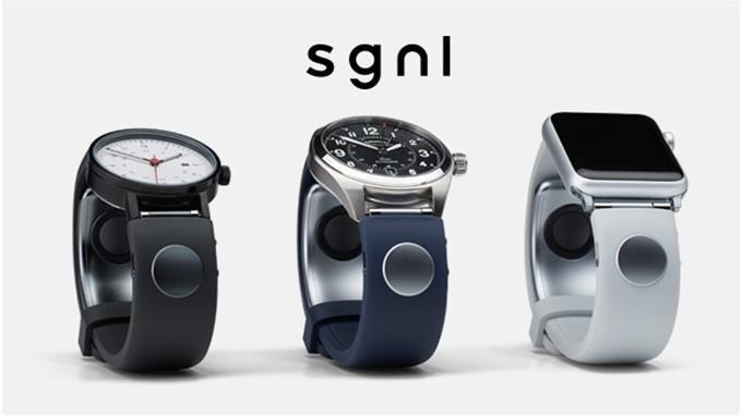 Ein Knopfdruck auf die Armbänder und schon kann mit dem Finger telefoniert werden – ohne lästiges Herauskramen des Smartphones.