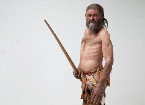 Rekonstruktion des Gletschermannes: So soll der lebende Ötzi ausgesehen haben.