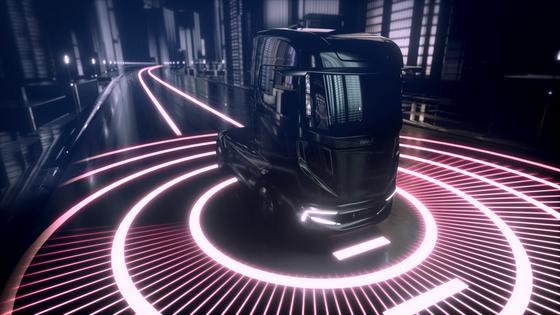 Seine Vision X des Lkw der Zukunft stellt Bosch auf der IAA Nutzfahrzeuge vor. Der Lkw ist voll vernetzt und fährt auf der Autobahn autonom, während sich der Fahrer um die Logistik kümmert.