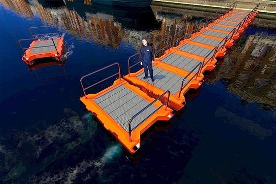 Brücken bauen aus autonomen Booten: Diese Idee haben niederländische Forscher.