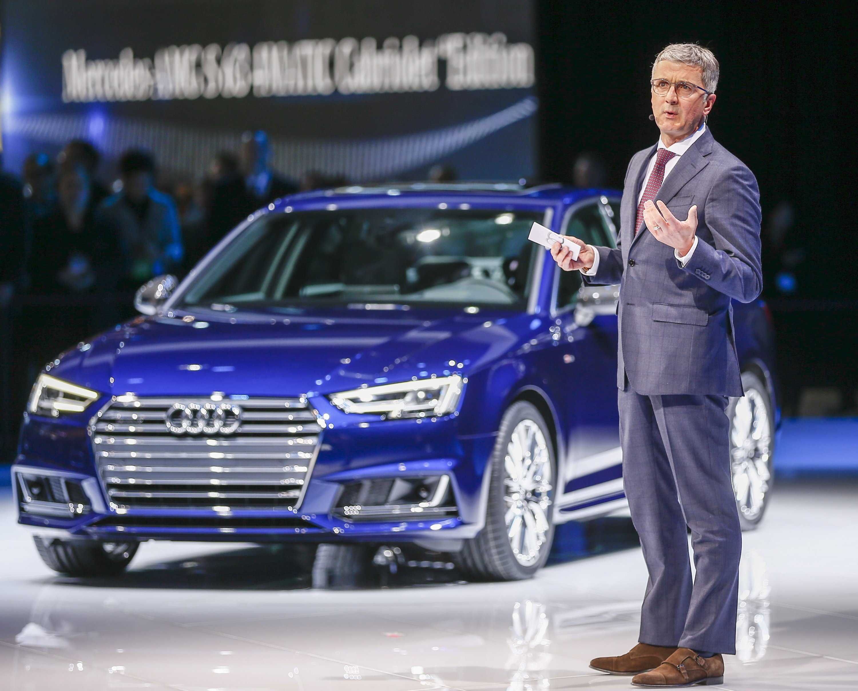 Audi-Chef Rupert Stadler im Januar 2016 auf der Automesse in Detroit: Stadler soll seid 2010 von den Dieselmanipulationen bei Audi gewusst haben.