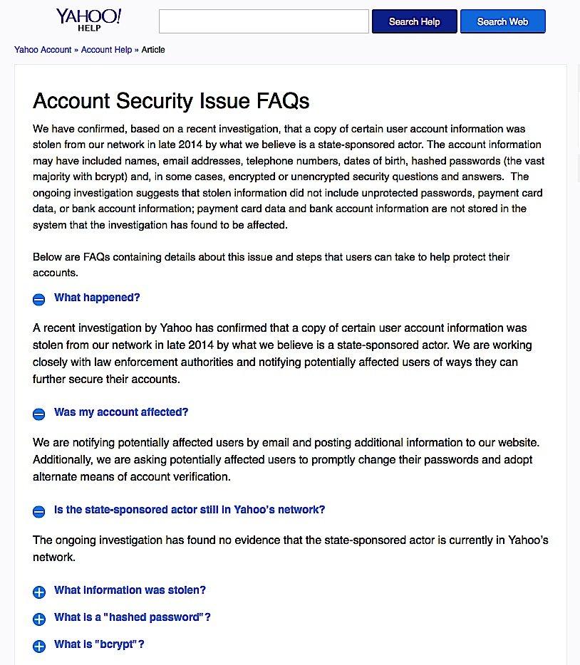Erst zwei Jahre nach dem Hackerangriff hat Yahoo über den Datenklau informiert. Auch in Deutschland bekommen Yahoo-Kunden nur englische Sicherheitshinweise.