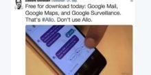 Snowden warnt: Bloß nicht Googles Messenger Allo nutzen