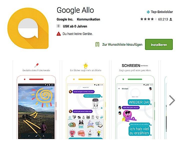 Erst seit dem 21. September kann man Google Allo im Play Store runterladen. Und schon hat eine Diskussion begonnen, wie sicher die Daten bei dem neuen Messenger sind.