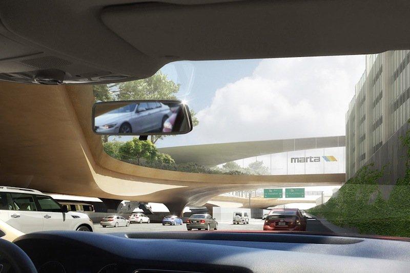 Unten rollen die Autos über den Highway, oben soll ein Park für frische Luft und Erholung von Fußgängern und Radfahrern sorgen.