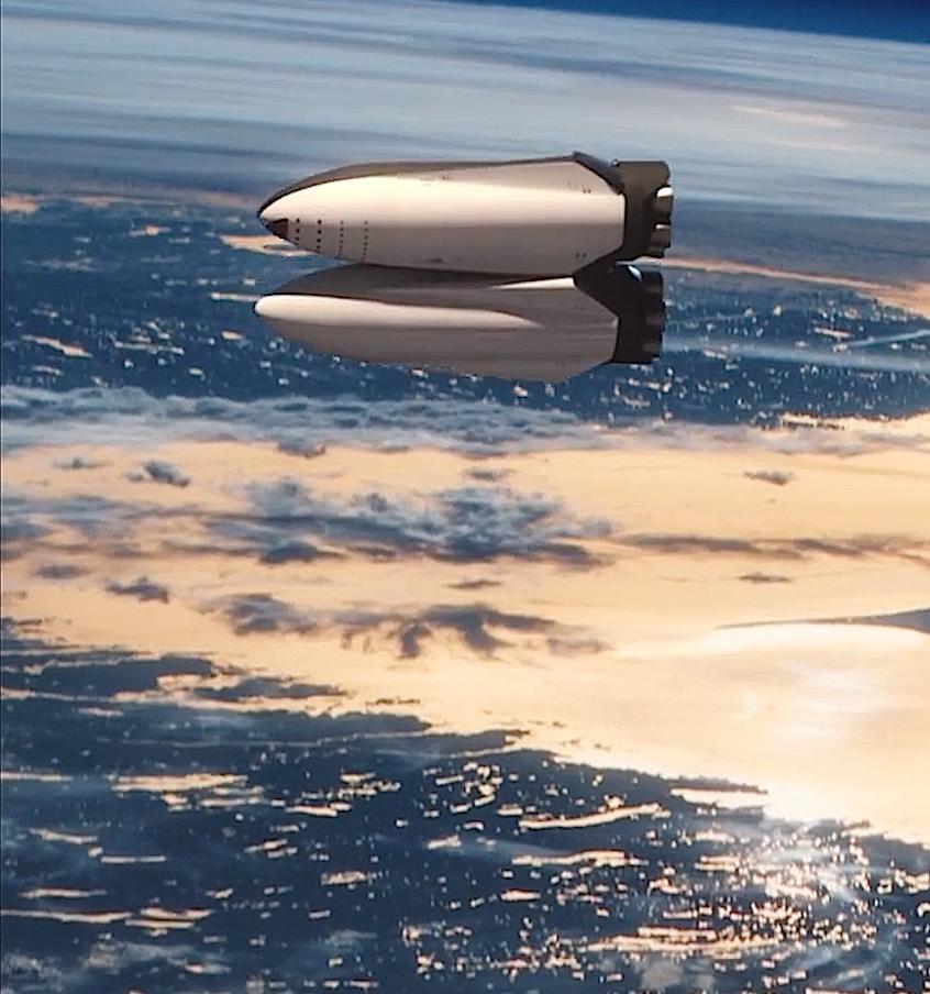 Nach dem Start des Raumschiffs will SpaceX im All die Tanks für den Flug zum Mars noch einmal auffüllen.