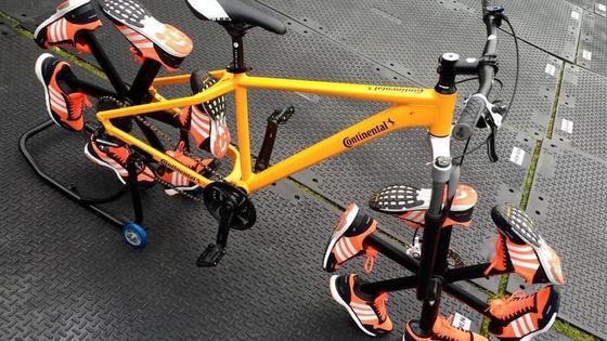 Das Shoe Bike von Continental war einer der Hingucker beim größten Fahrradfestival der Welt in London.