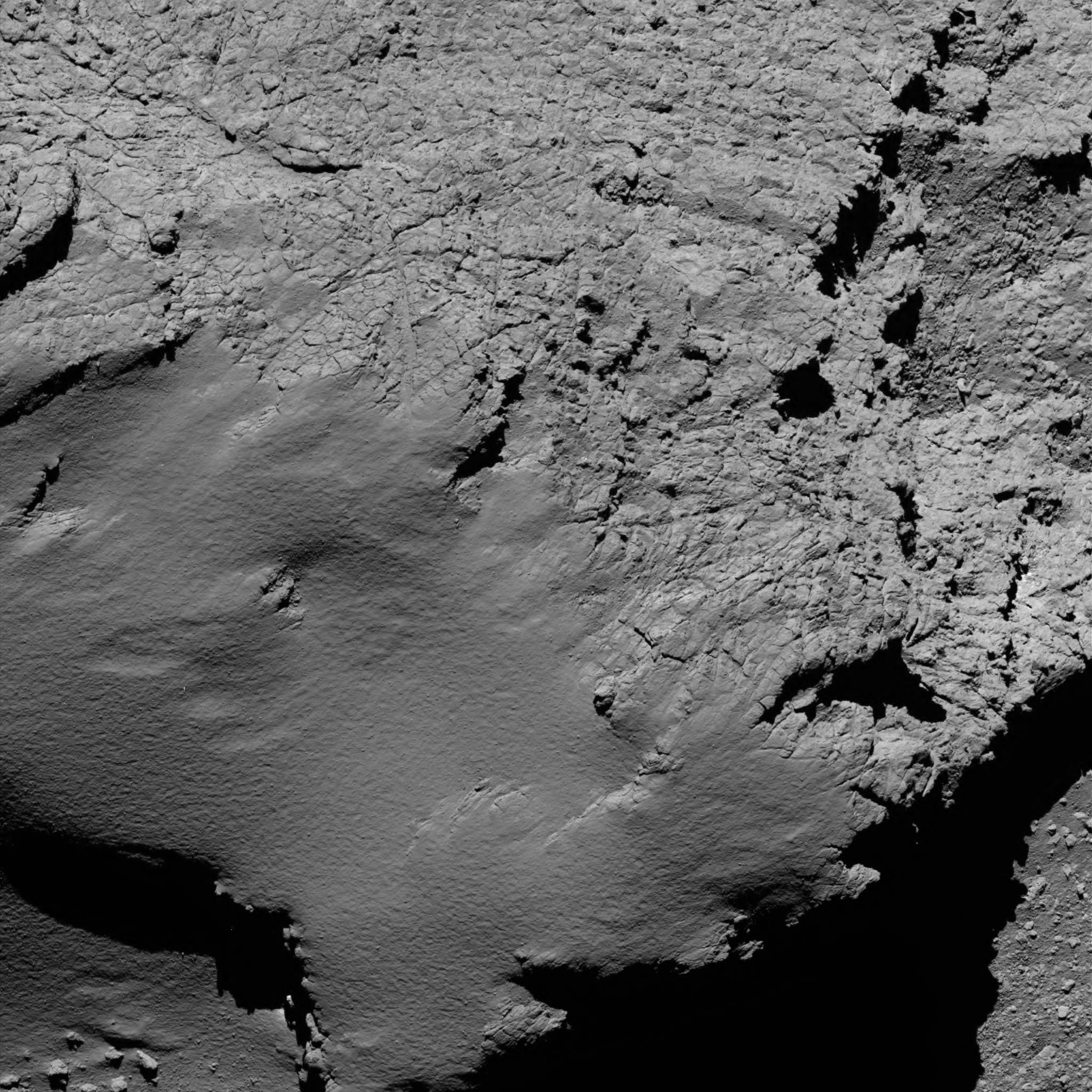 Tschuri aus nächster Nähe: Das Bild ist eines der letzten von Rosetta. Entfernung: 8,9 km.