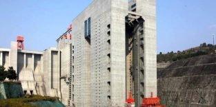 Höchstes Schiffshebewerk überwindet 113 Metern