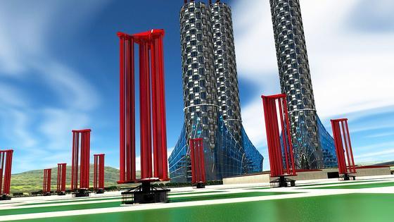 Mit riesigen Windrädern will das japanische Start-upChallenergy die enorme Energie von Taifunen nutzen, um Strom zu erzeugen.