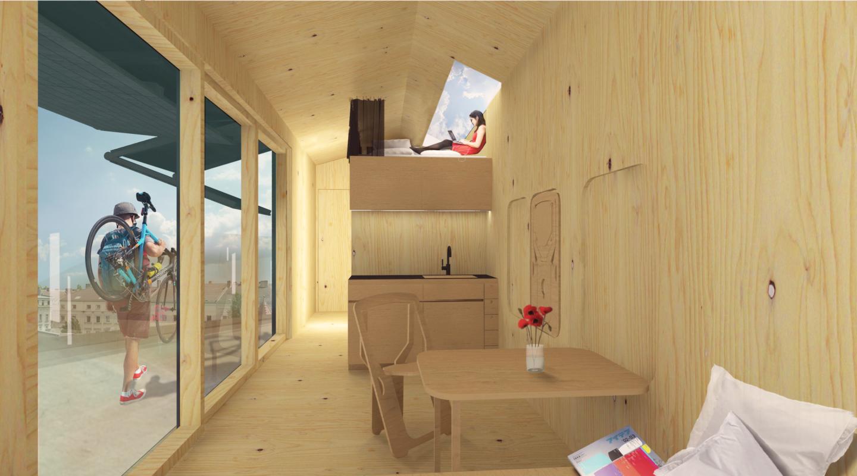 So stellt sich Cabin Spacey die Inneneinrichtung des Mini-Hauses vor.