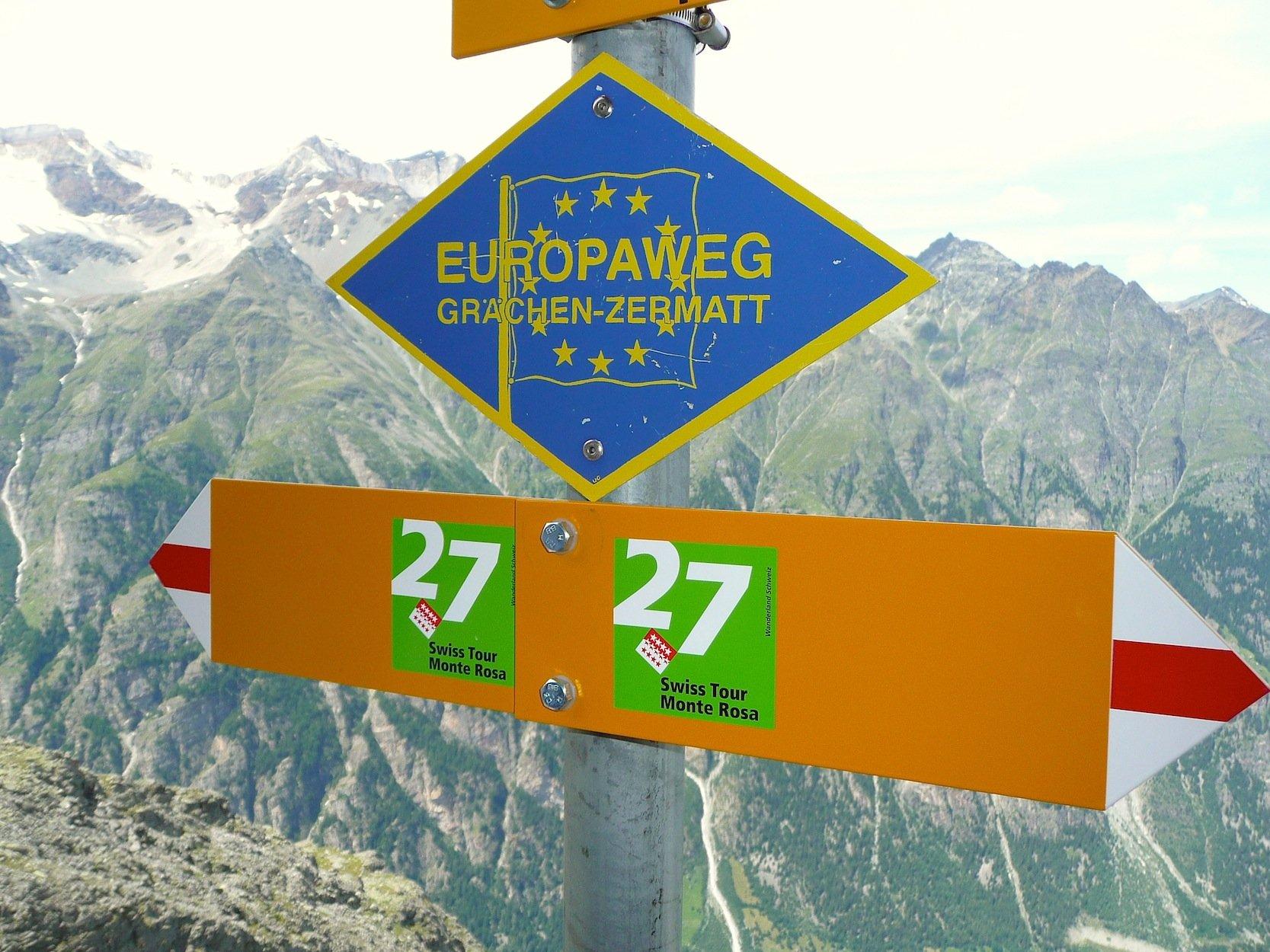 Der Europaweg führt im Wallis durch hochalpines Gebiet. Allerdings zwingen die tief eingeschnittenen Täler zu anstrengenden Auf- und Abstiegen. Eine neue Hängeseilbrücke soll für Entlastung sorgen.