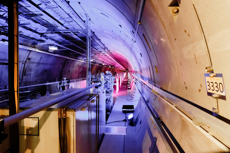 Fertige Tunnelanlage des XFEL Röntgenlasers.