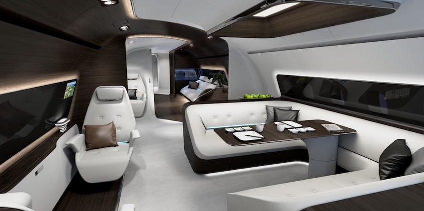 Diese Flugzeug-Suite haben Mercedes-Ingenieure gestaltet
