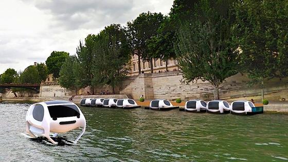 Im nächsten Jahr will das französische Unternehmen Sea Bubbles Wassertaxis auf der Seine in Paris fahren lassen.