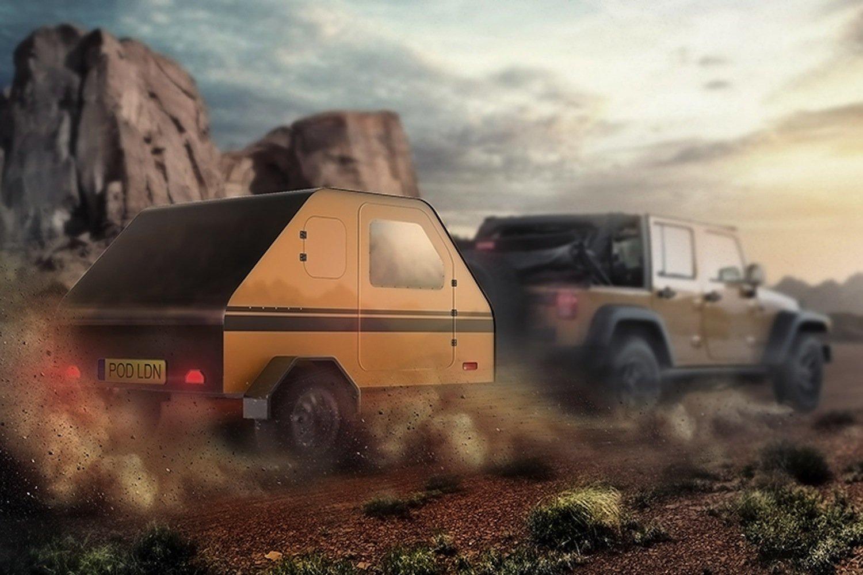 Auch für Camper könnte Duffy Shelter interessant sein. Das Mini-Haus lässt sich zum Wohnwagen umbauen.