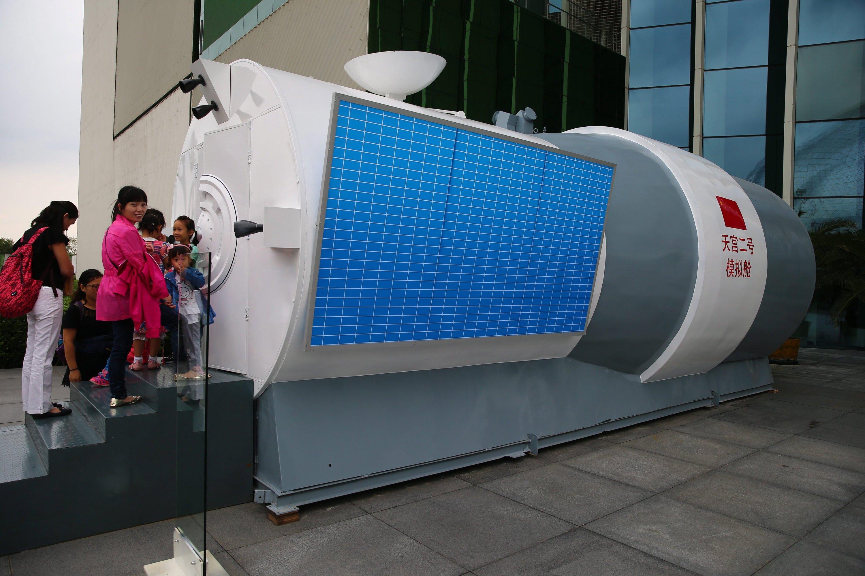 Im September präsentierte China in Peking im Rahmen des National Popular Science Day ein Modell des Raumlabors Tiangong 2.