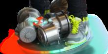 Weltneuheit: Dieses Skateboard rollt auf einer Kugel