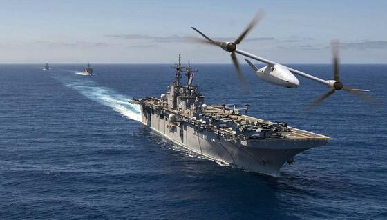 Das unbemannte Kipprotor-Flugzeug Bell V-247 Vigilanteignet sich laut Bell Helicopter für den Einsatz auf Flugzeugträgern und für lange Expeditions- und Überwachungsflüge.