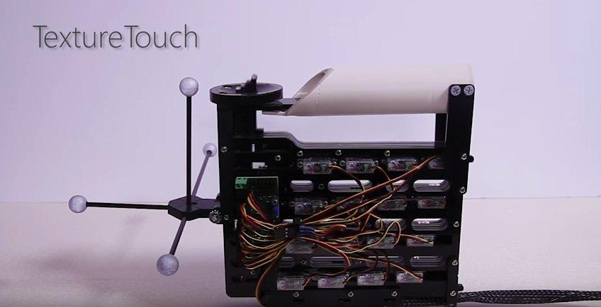 Auch das TextureTouch-Gerät befindet sich noch in einem relativ frühen Entwicklungsstadium, was die Optik anbelangt.