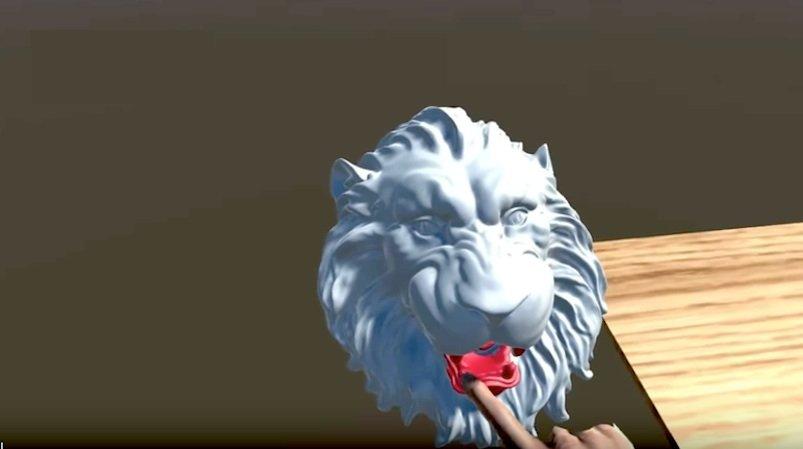 Dem Löwen nicht nur ins virtuelle Maul geschaut, sondern es auch gefühlt wurde bei diesem Experiment.