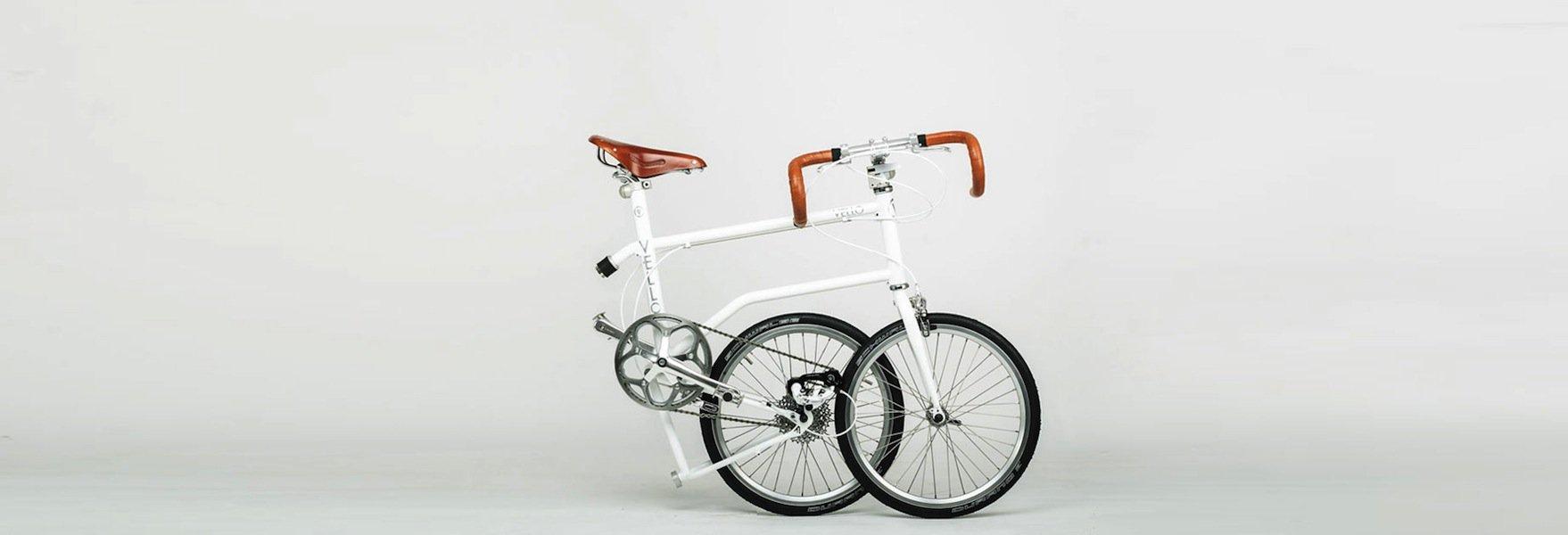 Das bisherige Vello-Spitzenmodell mit Ledersattel und Rennlenker.