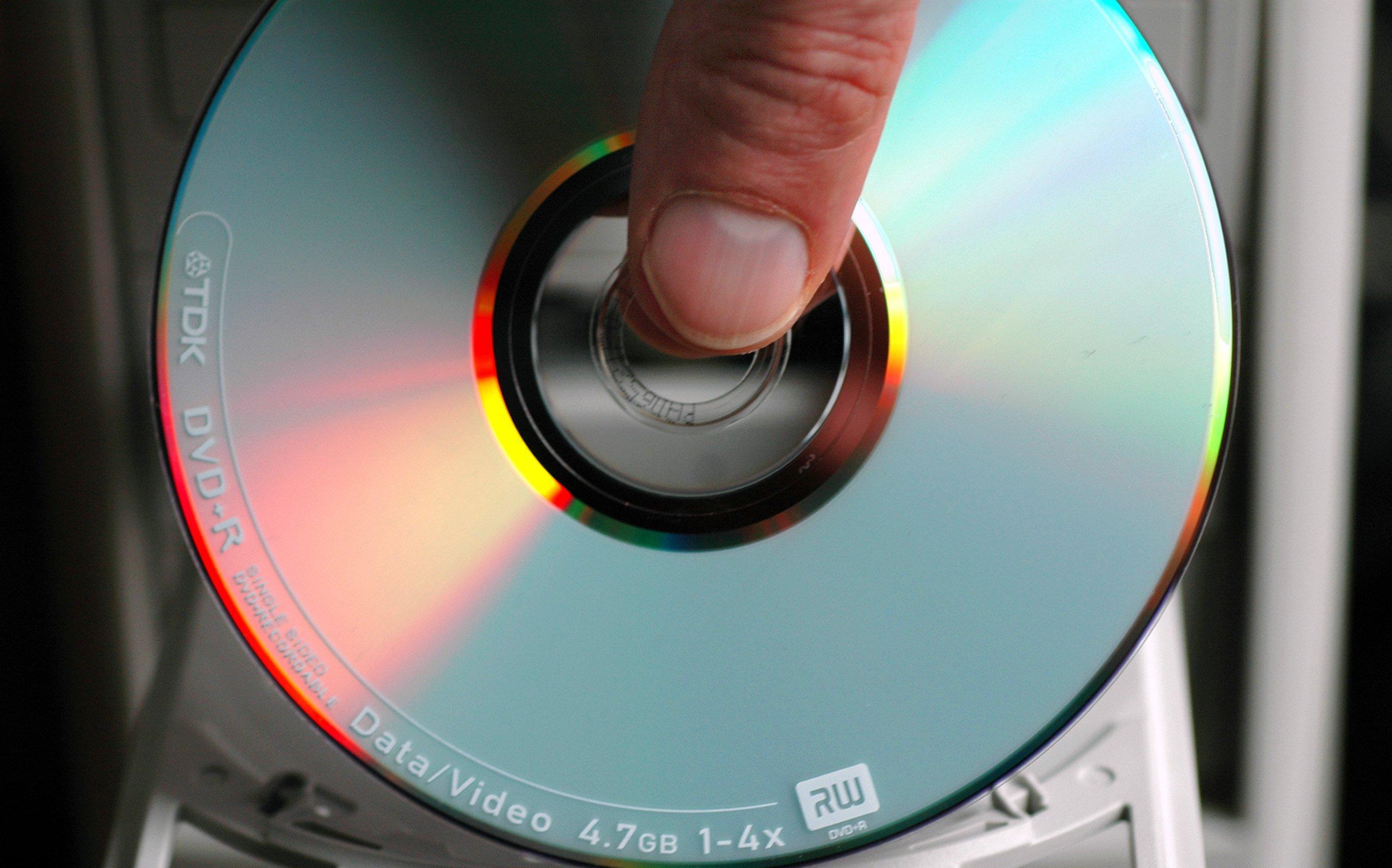 Reflektierende CD.