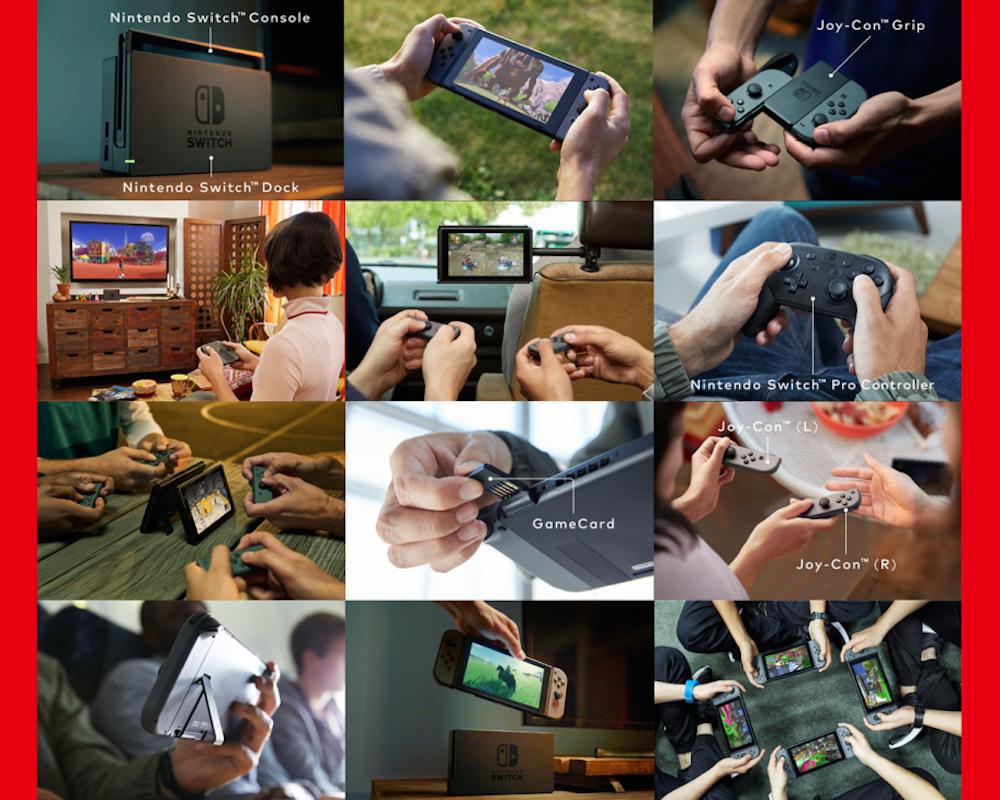 Überall: Nintendo hat viele Ideen, wohin Fans die neue Konsole mitnehmen können, um zu spielen...