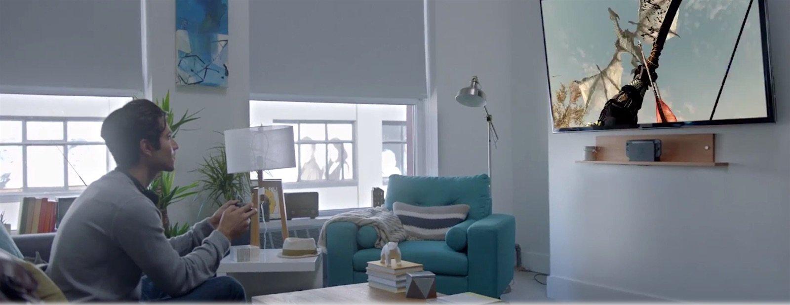 Am größten ist es daheim: Hier kann der Spieler den Bildschirm nutzen.