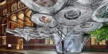 Luftig-zarte Gewebe aus Roboterhand nach dem Vorbild der Natur