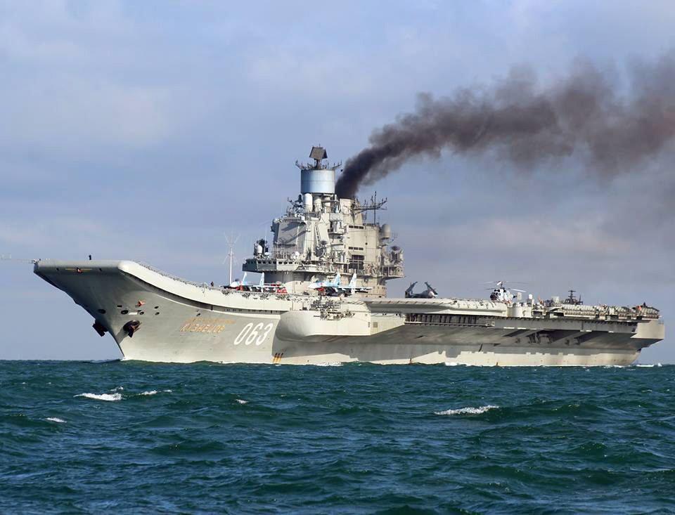 Russlands Flugzeugträger Admiral Kusnezow.