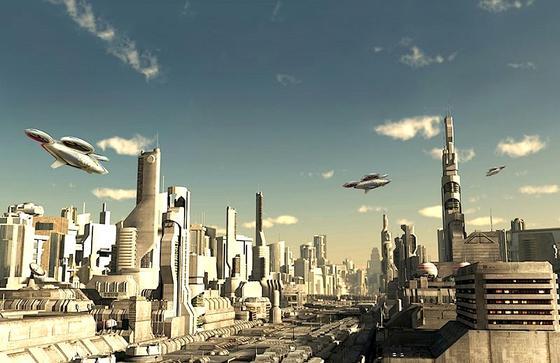 Drohnen sollen nach der Vorstellung von Airbus künftig auf Autobahnen in der Luft durch Häuserschluchten fliegen und als Sammeltaxi fungieren. Damit glaubt Airbus, die Staus in Megacities auflösen zu können.