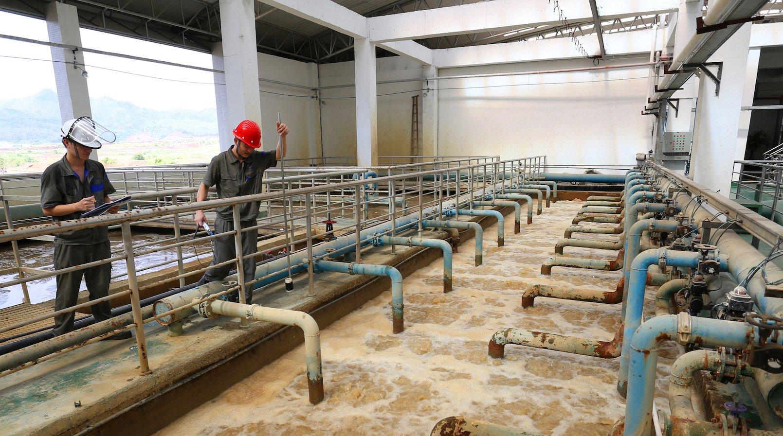 Ziel ist es, die galvanischen Abwässer so zu reinigen, dass sie keine Belastung für die Umwelt darstellen.