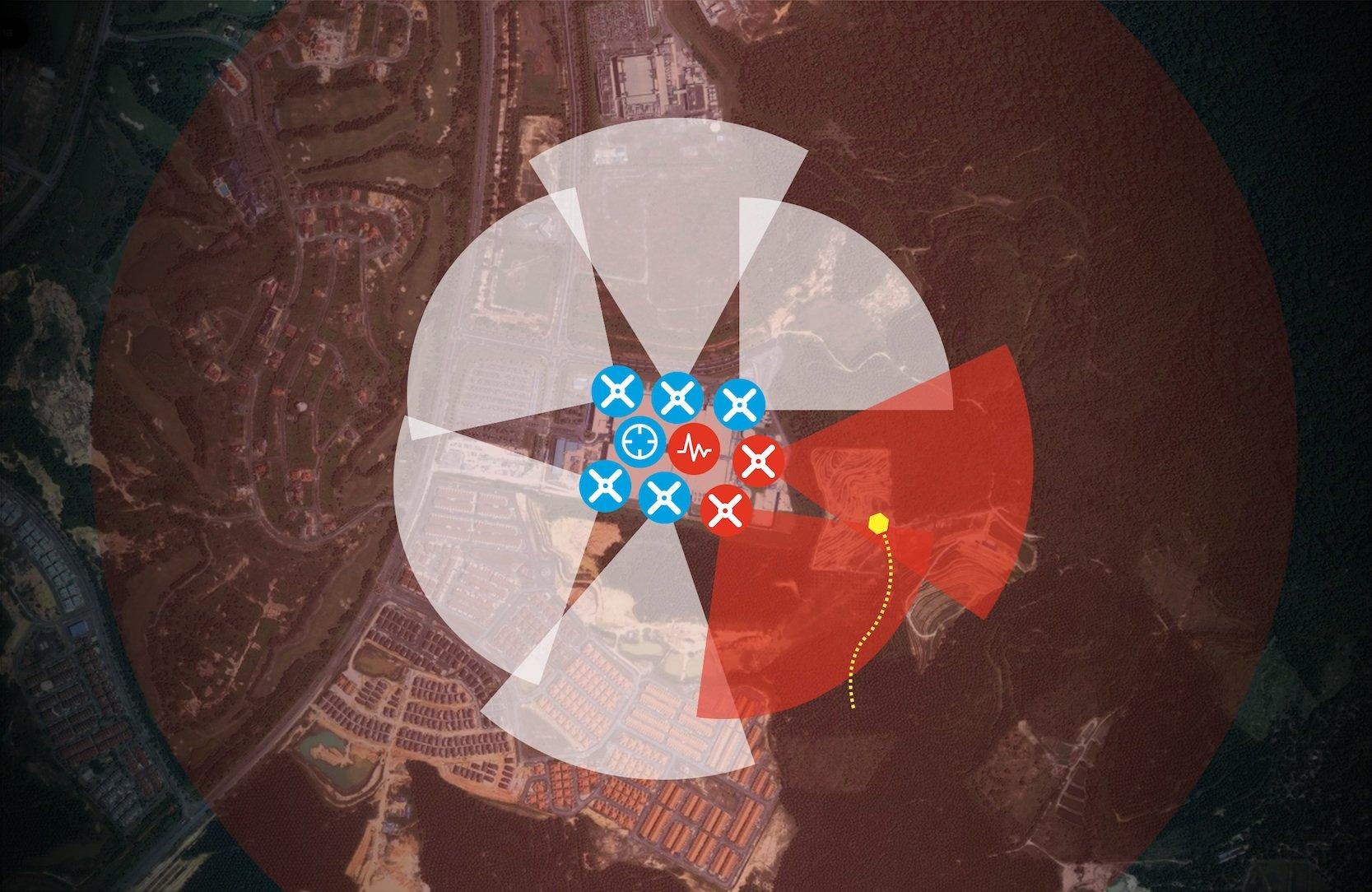 Moderne Drohnenabwehrsysteme wie dieses von Dedrone können Drohnen auf große Distanzen orten und auch den Standort des Piloten ausfindig machen. Zugleich bieten sie die Möglichkeit, die Steuerung der Drohne zu übernehmen.