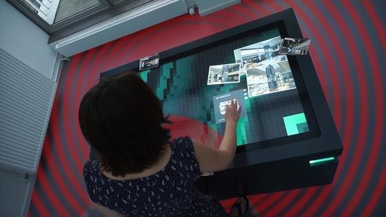 DerMultitouch-Scanner von Garamantis kann alsinteraktive Infotheke eingesetzt werden.