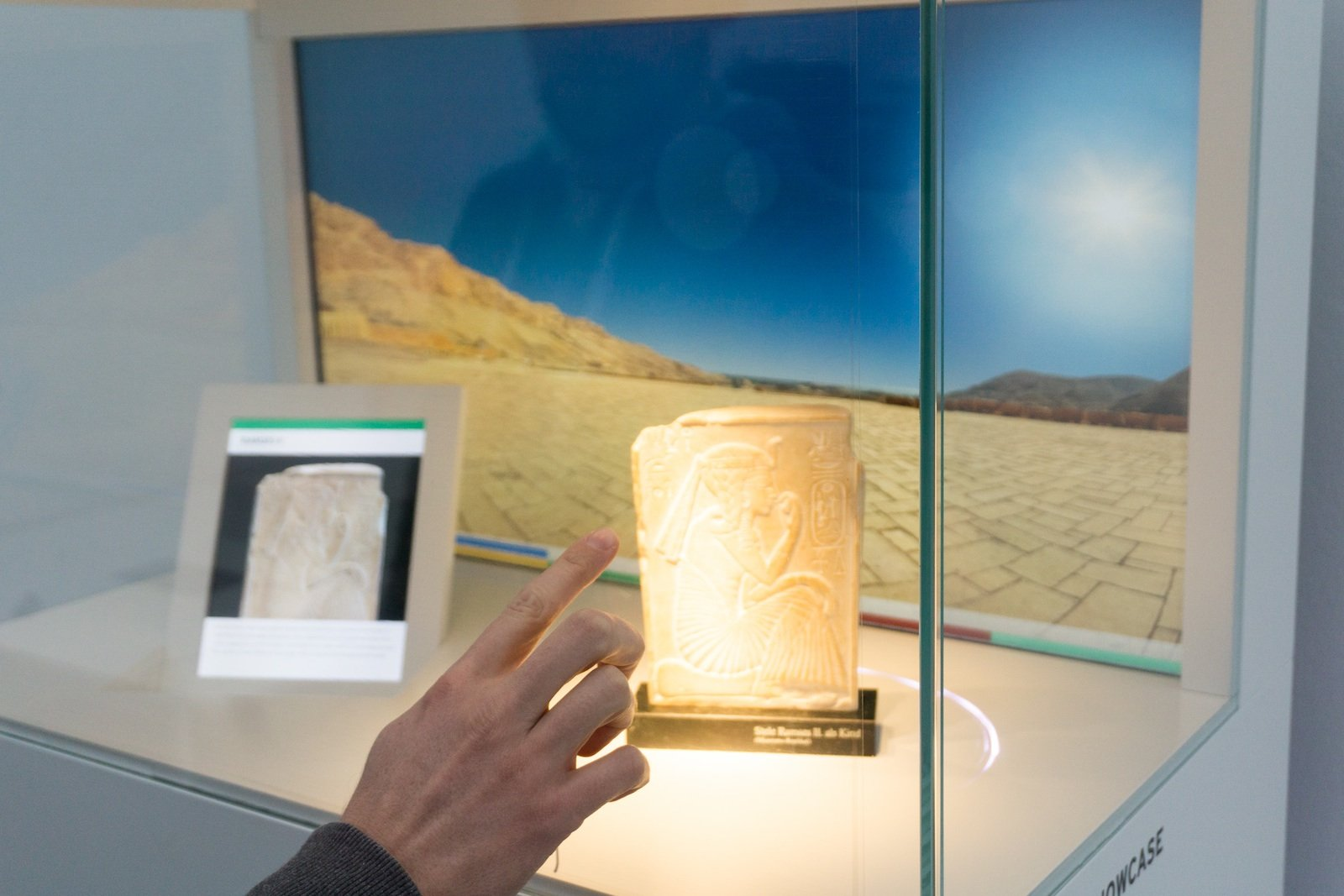 Für Museen ist die interaktive Vitrine von Garamantis gedacht.