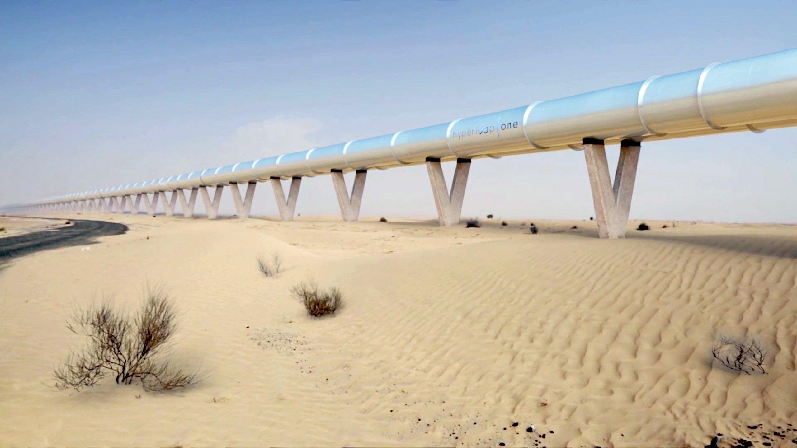Der Hyperloop solldie rund 150 km lange Strecke von Dubai nach Abu Dhabi in nur zwölf Minuten absolvieren.