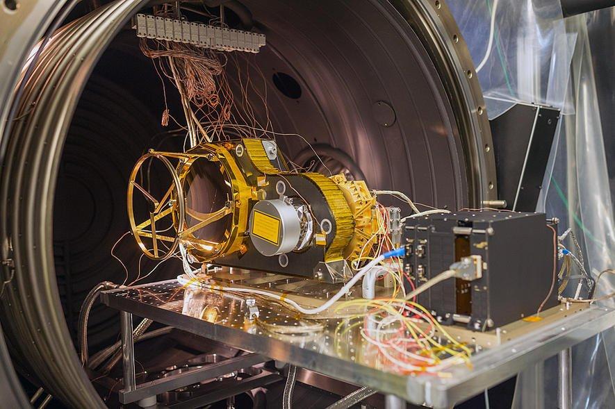 Laser Altimeter Bela: Das System besteht aus Infrarotlaser und Teleskop und wird ab 2024 mit höchster Genauigkeit eine 3D-Karte des Merkur erstellen.