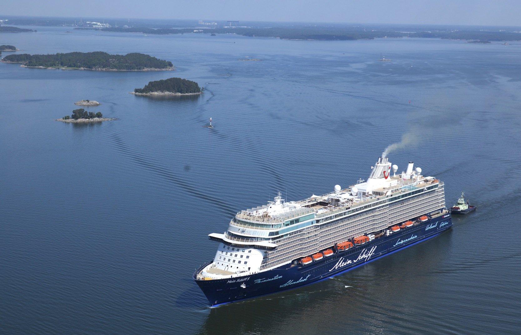 Die erste Fahrt des bei Meyer Turko in Finnland gebauten Schiffs