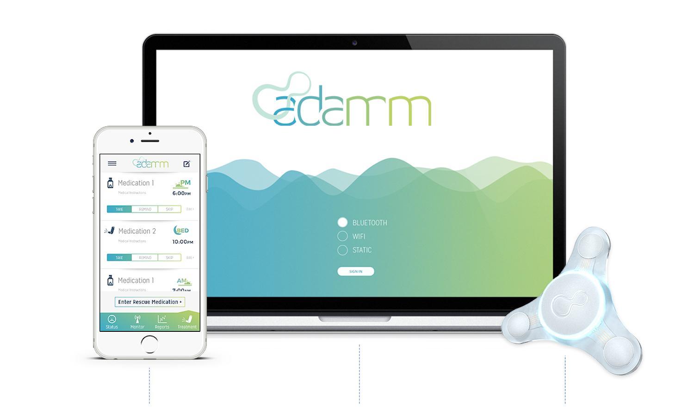 Adamm unterstützt Asthmatiker. Das E-Pflaster überwacht Herzfrequenz, Husten und Atmung.