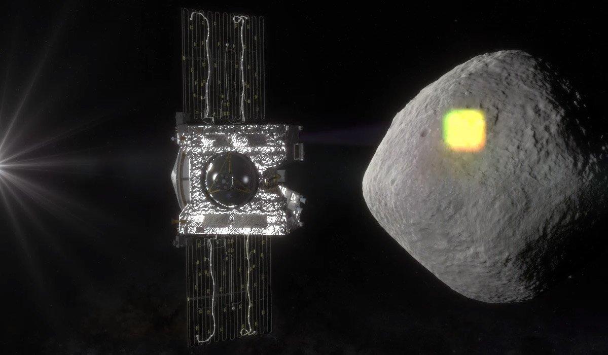 Im September 2016 startete die Nasa die Mission Osiris-Rex. Es ist der erste Versuch der amerikanischen Weltraumbehörde, eine Materialprobe von einem Asteroiden zu nehmen und diese zur Erde zu bringen.Ziel der Mission ist Bennu, ein etwa 500 m großer Gesteinsbrocken in mehr als 650 Mio. km Entfernung. Bennu zählt zu den potenziell gefährlichen Asteroiden, die auf Kollisionskurs mit der Erde sind und die man deshalb genau im Auge behält.