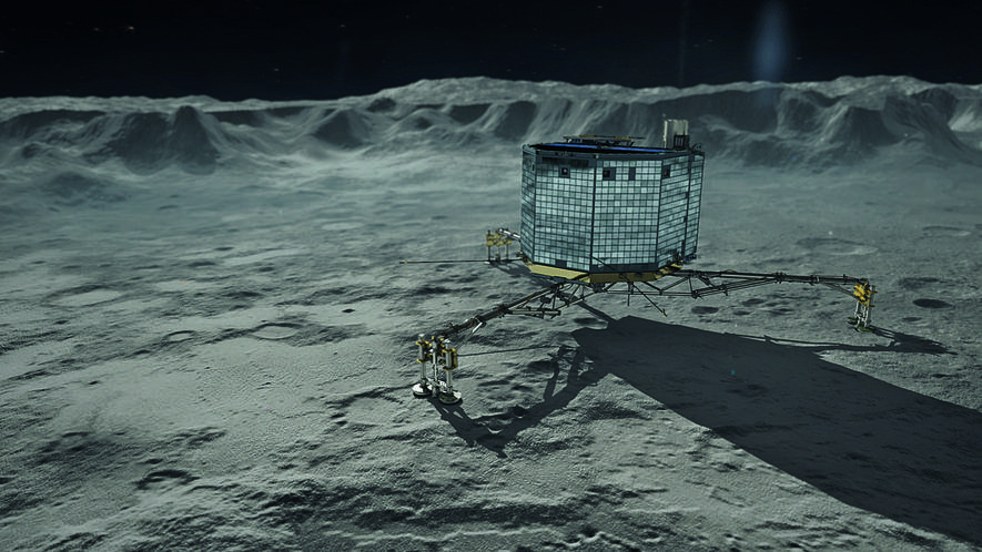Kometenlander Philae auf Tschuri.