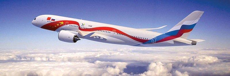 Künstlerische Darstellung der geplanten C929, die Russland und China gemeinsam bauen wollen.