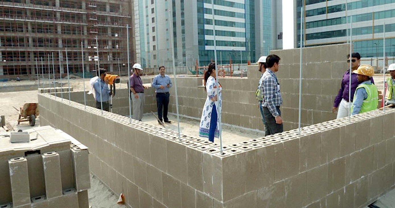 Auch in Neu Delhi hat das Thüringer Unternehmen bereits ein Musterhaus errichtet.
