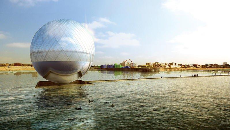 Clear Orb: Die Kugel soll laut Planungin eine Anlage eingebunden sein, die für Besucher zugänglich ist.