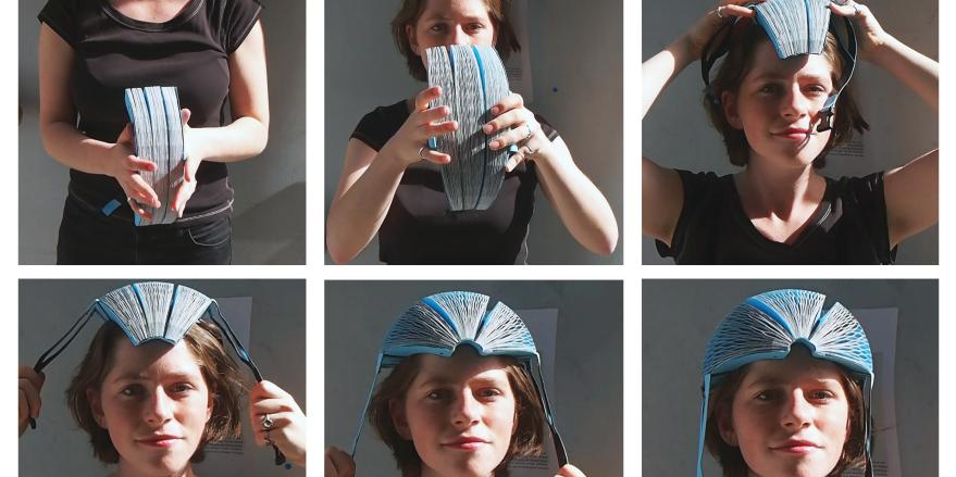 Jetzt kommt der Fahrradhelm aus Papier